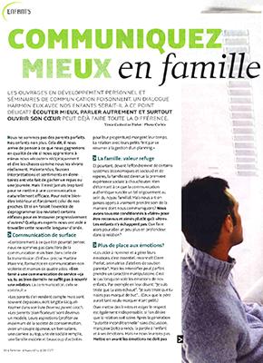 Article Parents Conscients - Communiquez mieux en famille