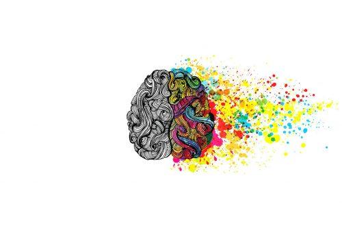 Illustration des émotions, cerveau droit